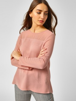 Cover Story Basic Long Sleeve Blouse