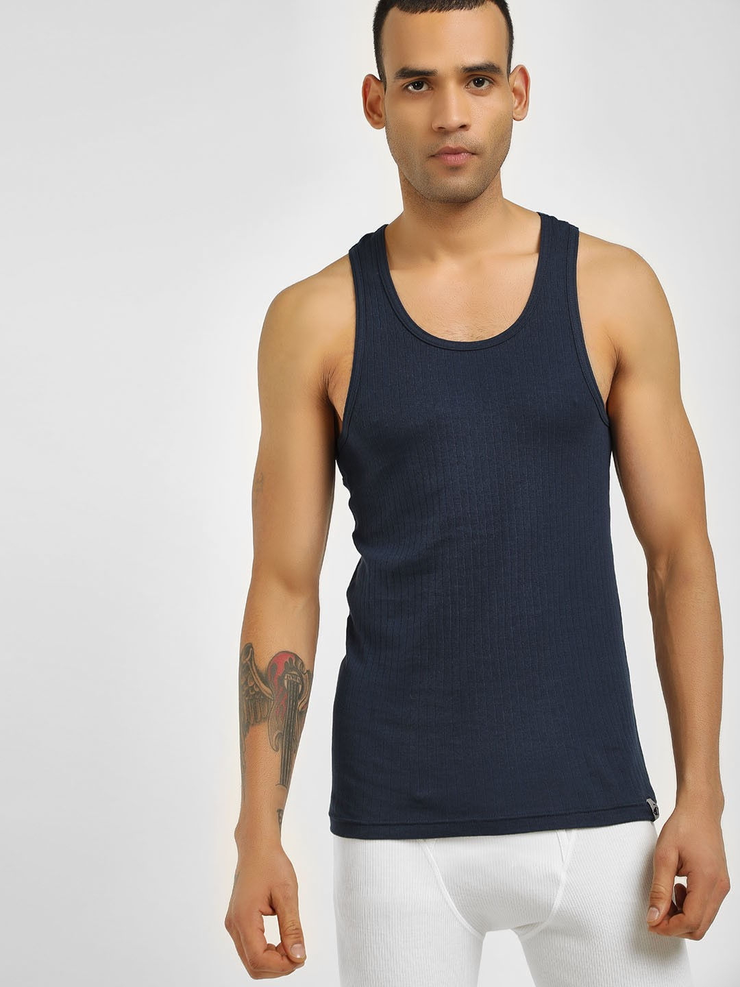 Jockey Blue Racer Back Vest 1