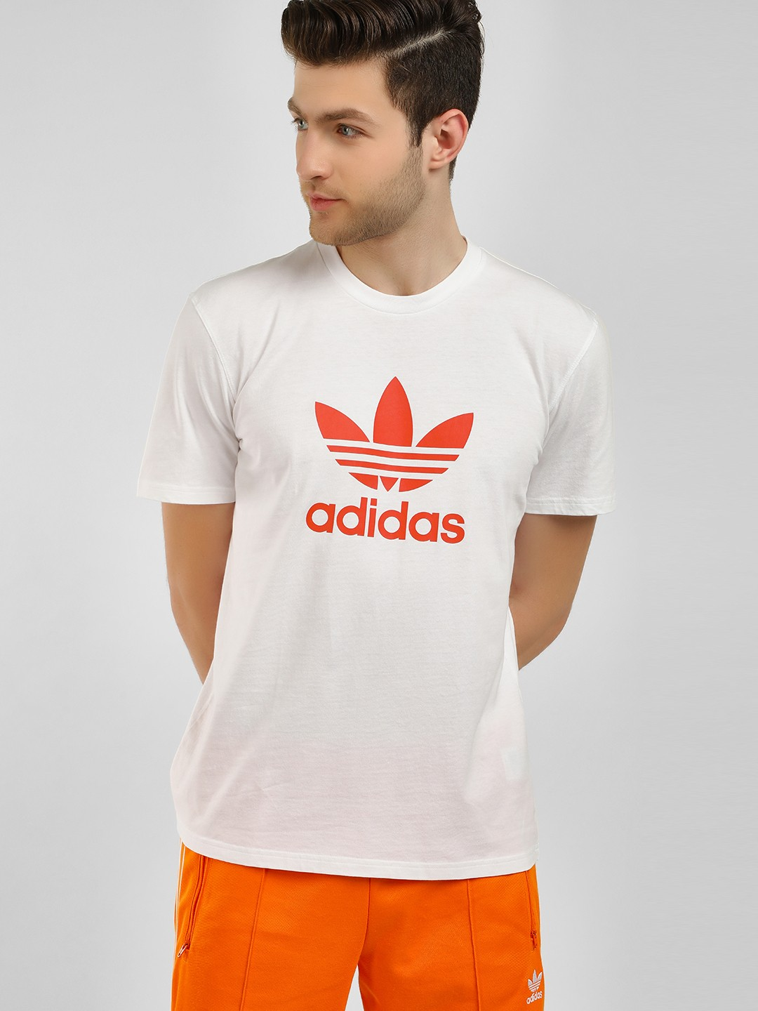 Adidas Originals White Trefoil T-Shirt 1
