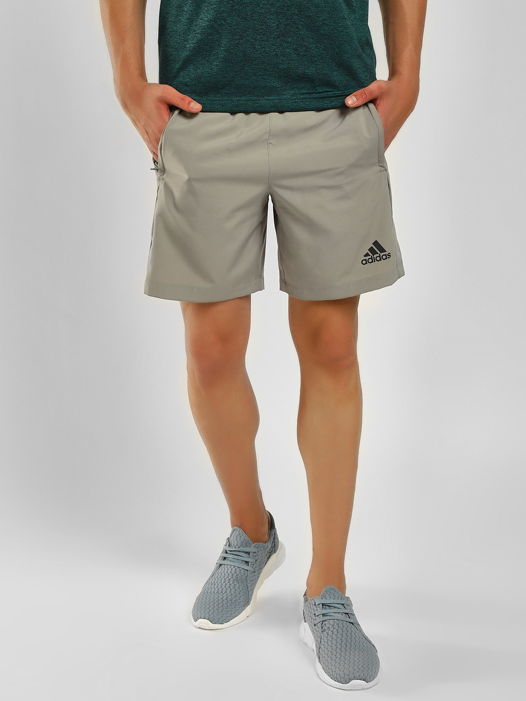 Adidas Green Casual Shorts 1
