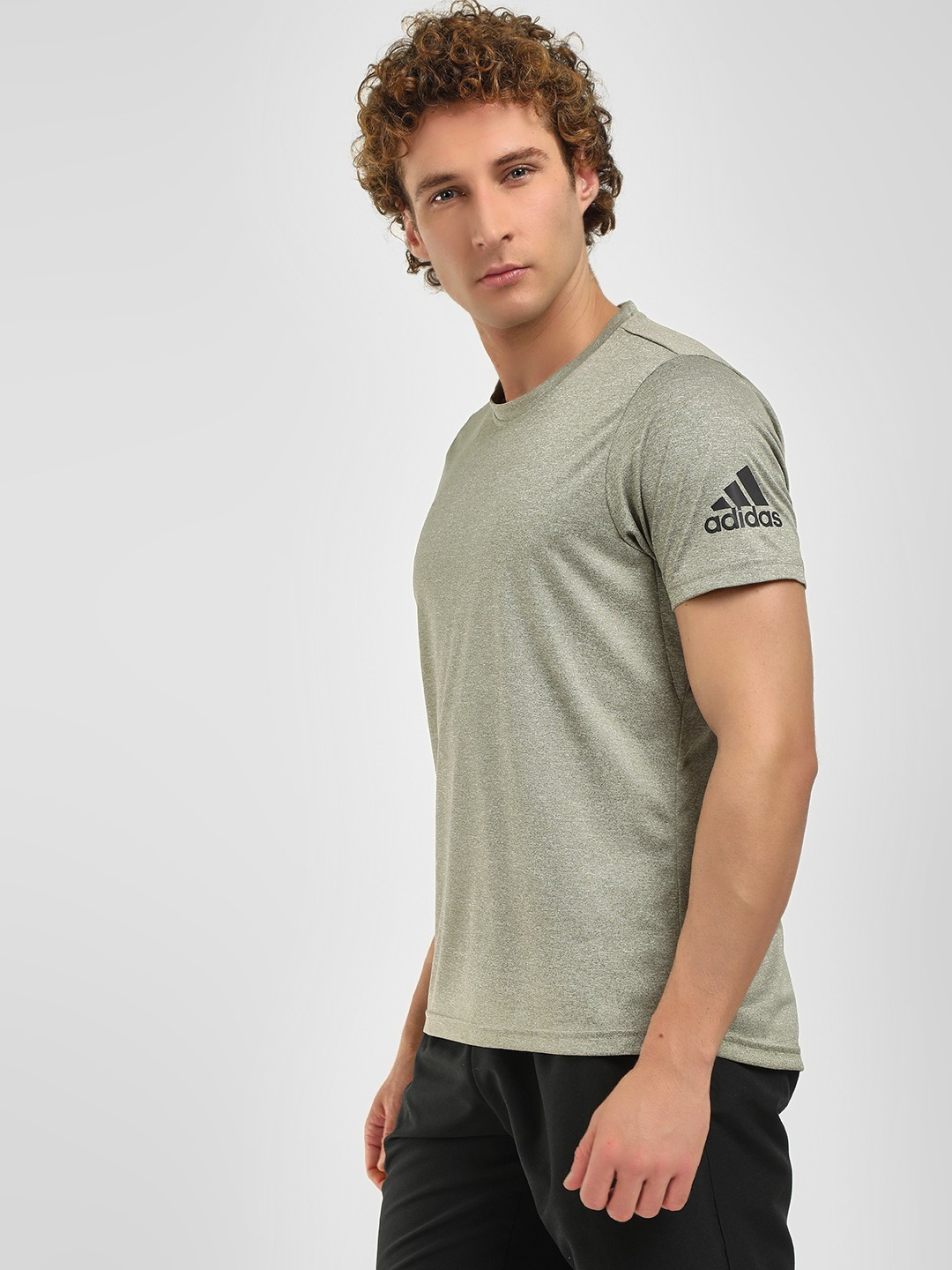 Adidas Grey Freelift Prime Training T-Shirt 1