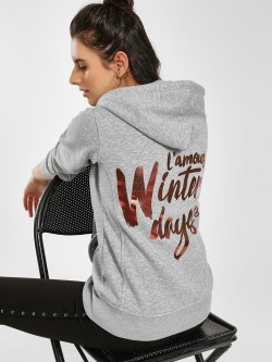 KOOVS Slogan Back Hooded Jacket