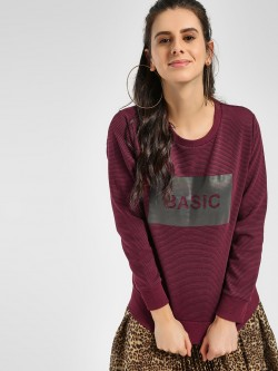 KOOVS Text Placement Print Sweatshirt