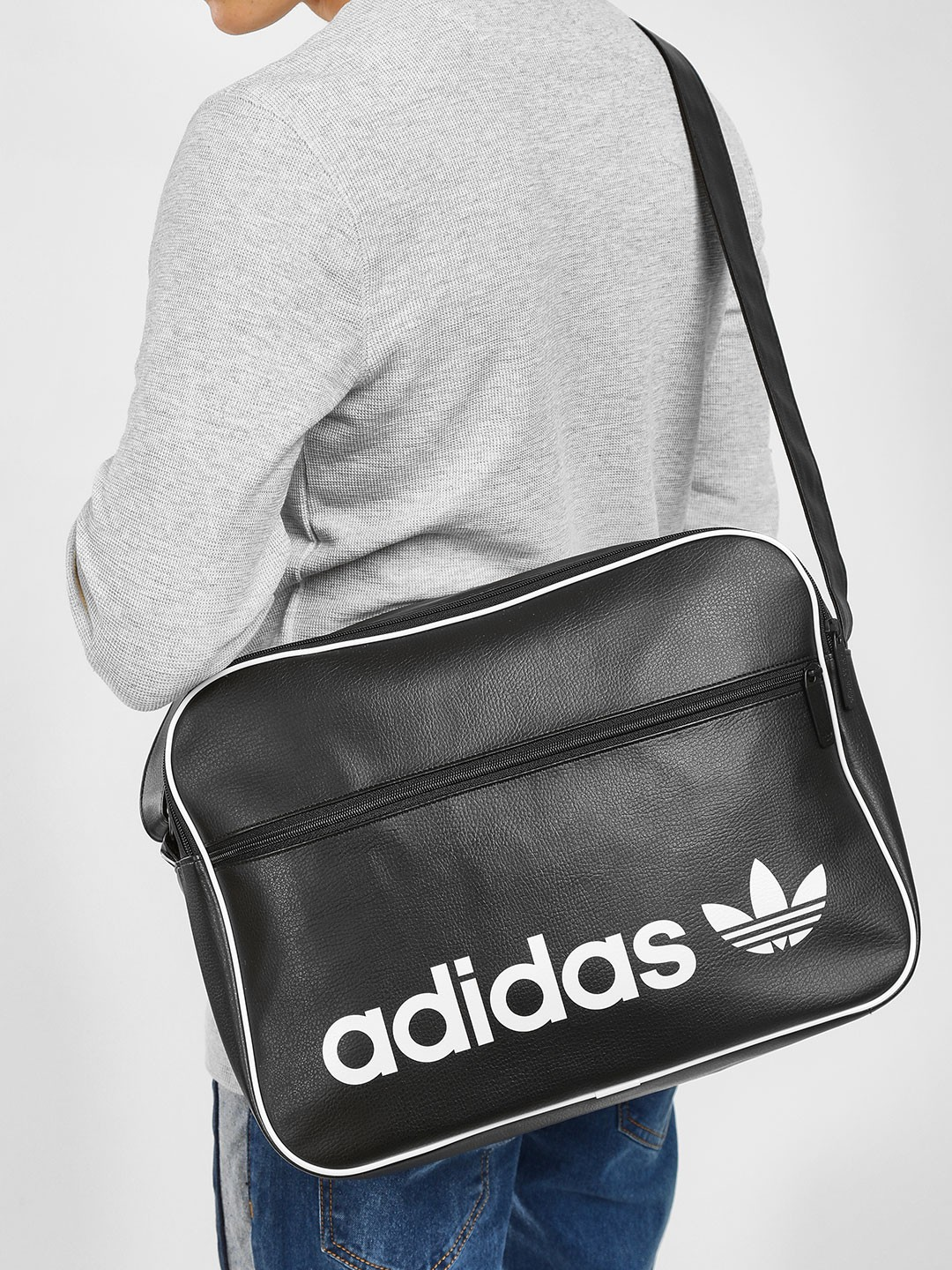 Adidas Originals Black Vintage Airliner Bag 1