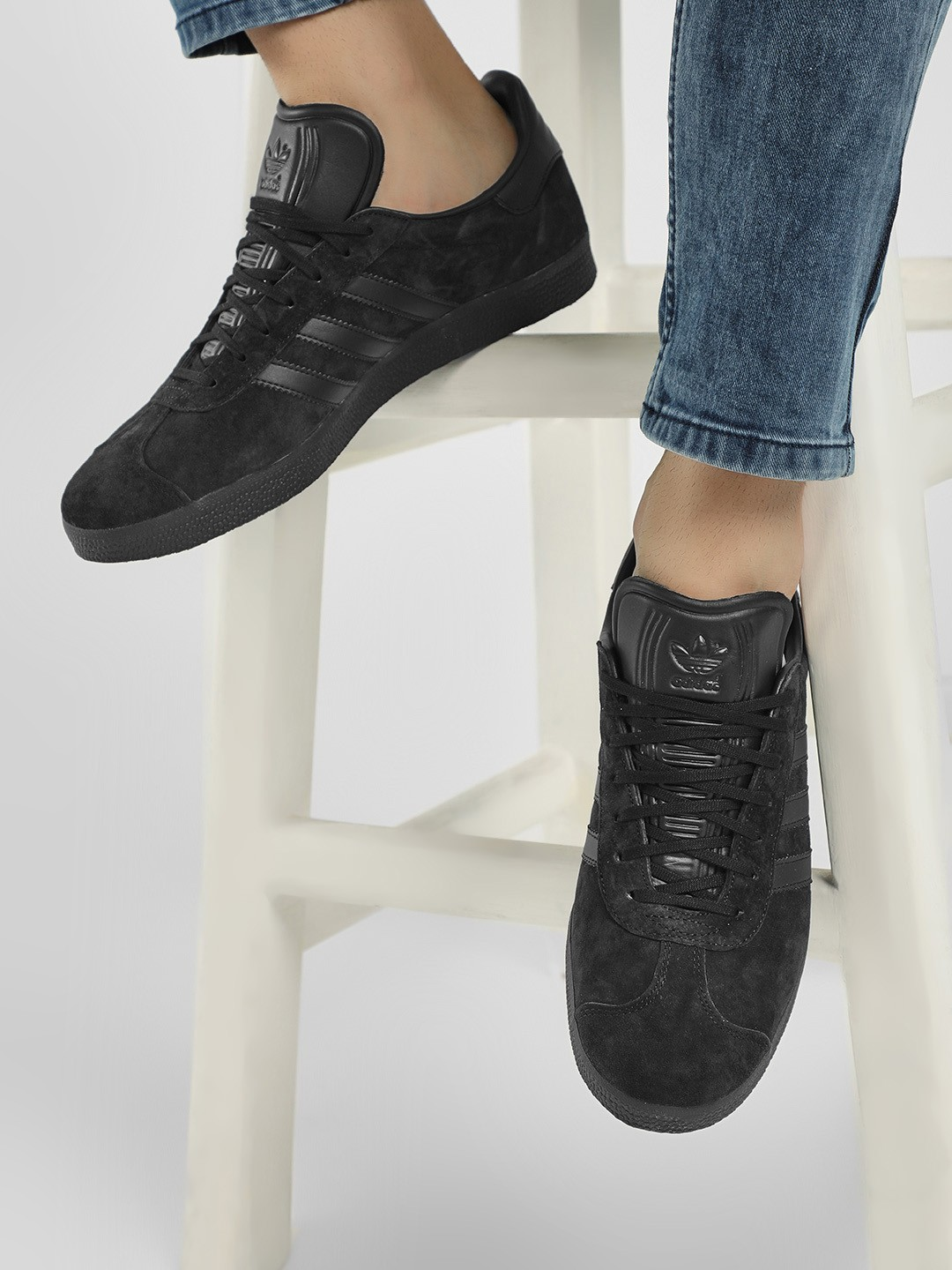 Adidas Originals Black Gazelle Shoes 1