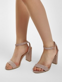 New Look Chunky Glitter Heeled Sandals