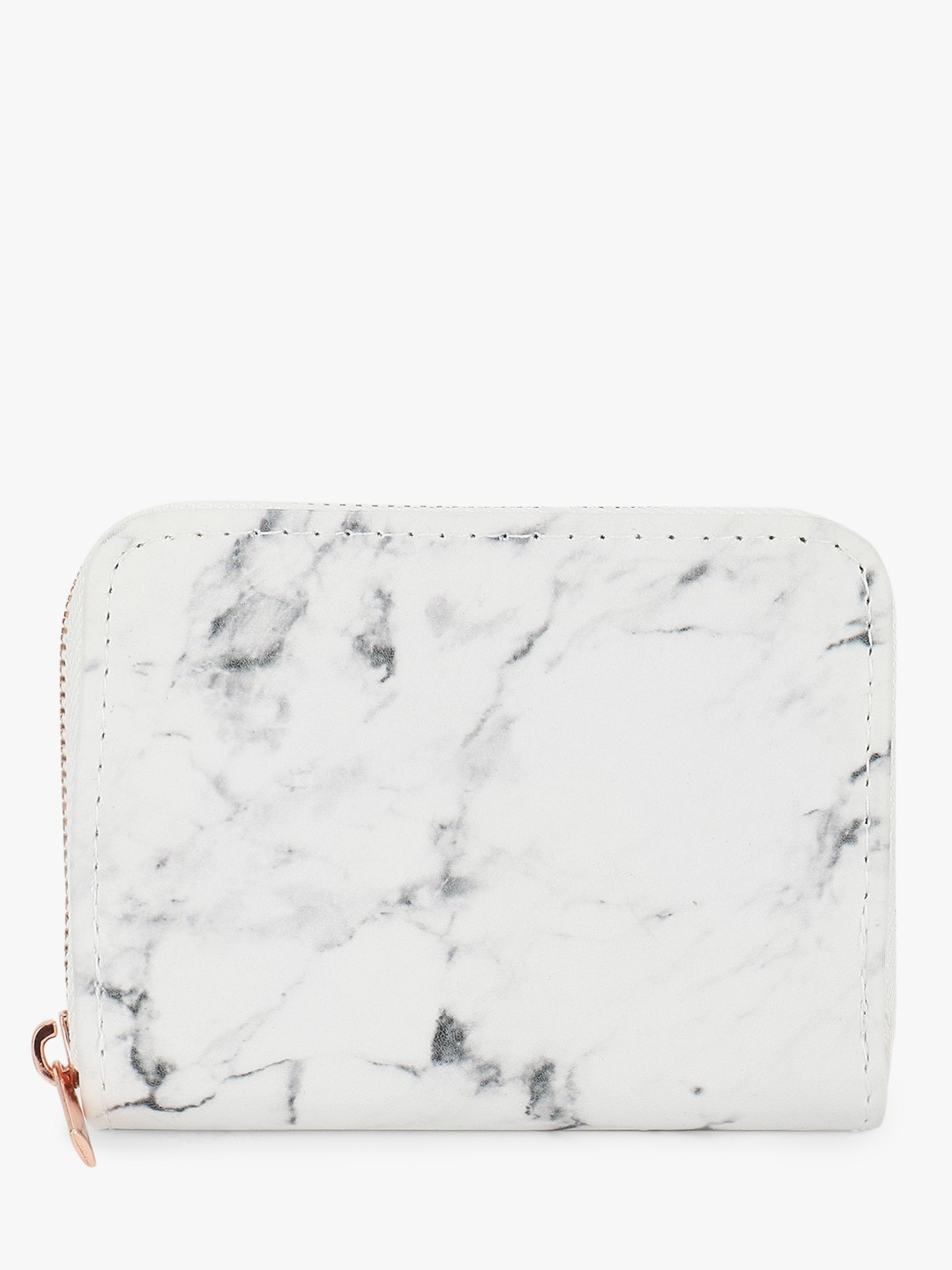 New Look White Marble Print Cardholder 1