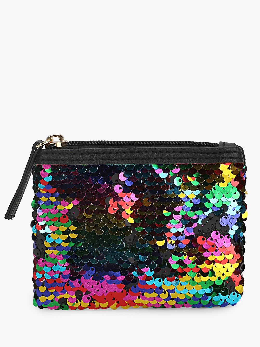 New Look Multi Rainbow Sequins Pouch 1