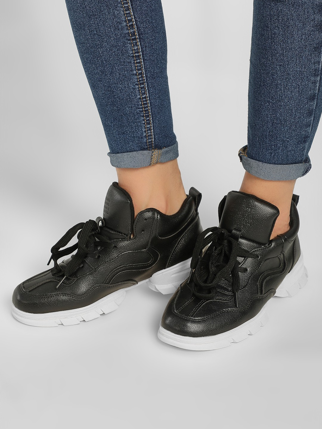 Sole Story Black Chunky Sole Trainers 1