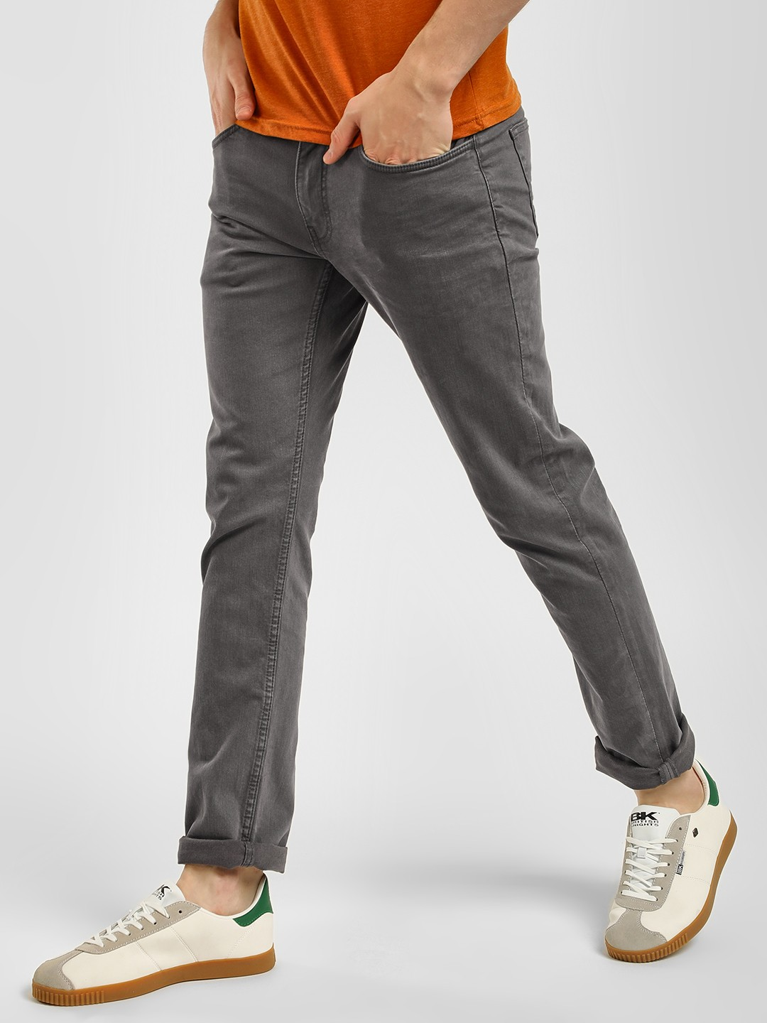 Celio Grey Basic Straight Fit Jeans 1