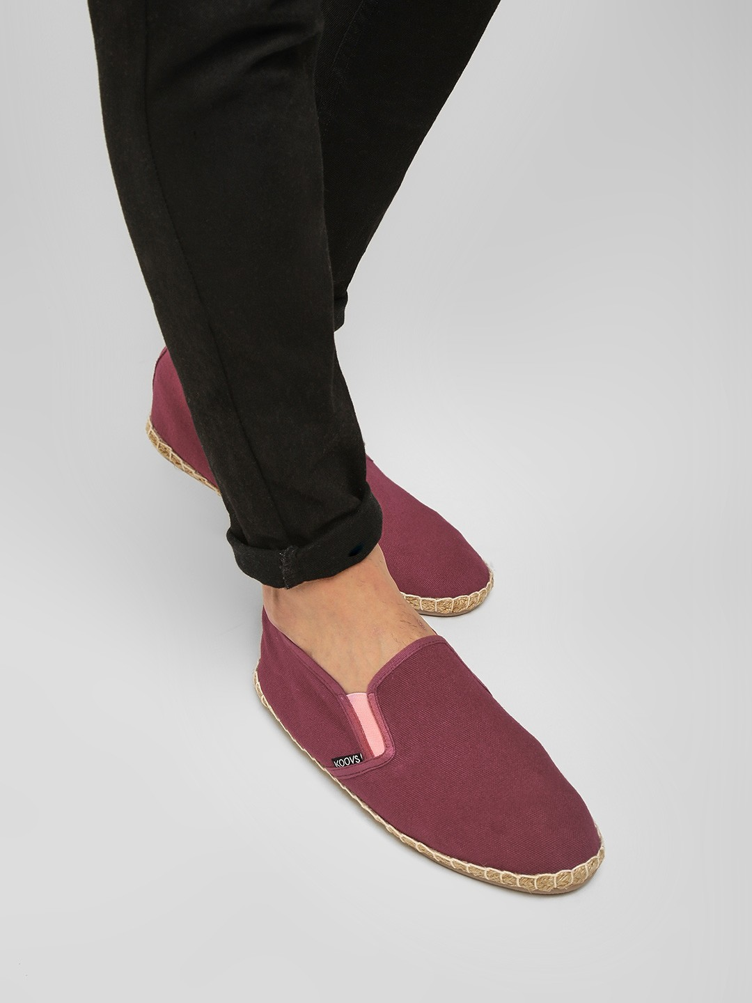 KOOVS Burgundy Basic Slip-On Espadrilles 1