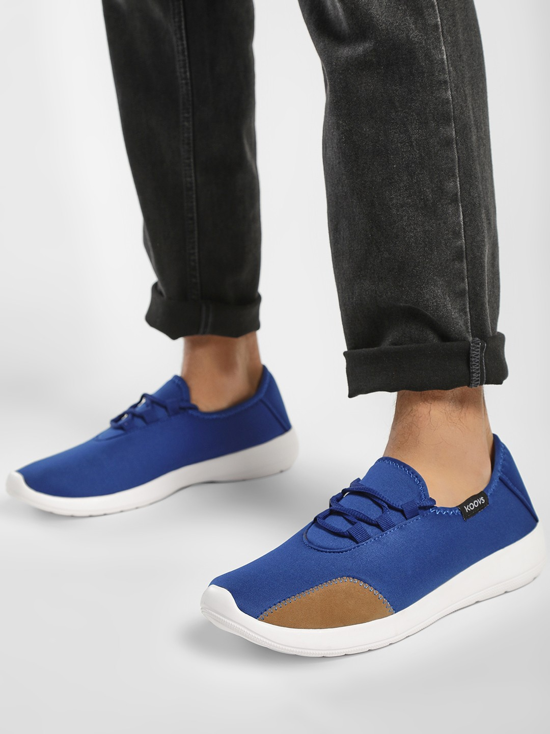 KOOVS Blue Low Sports Sneakers 1