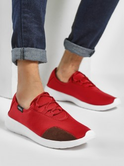 KOOVS Suede Panel Low Top Sneakers
