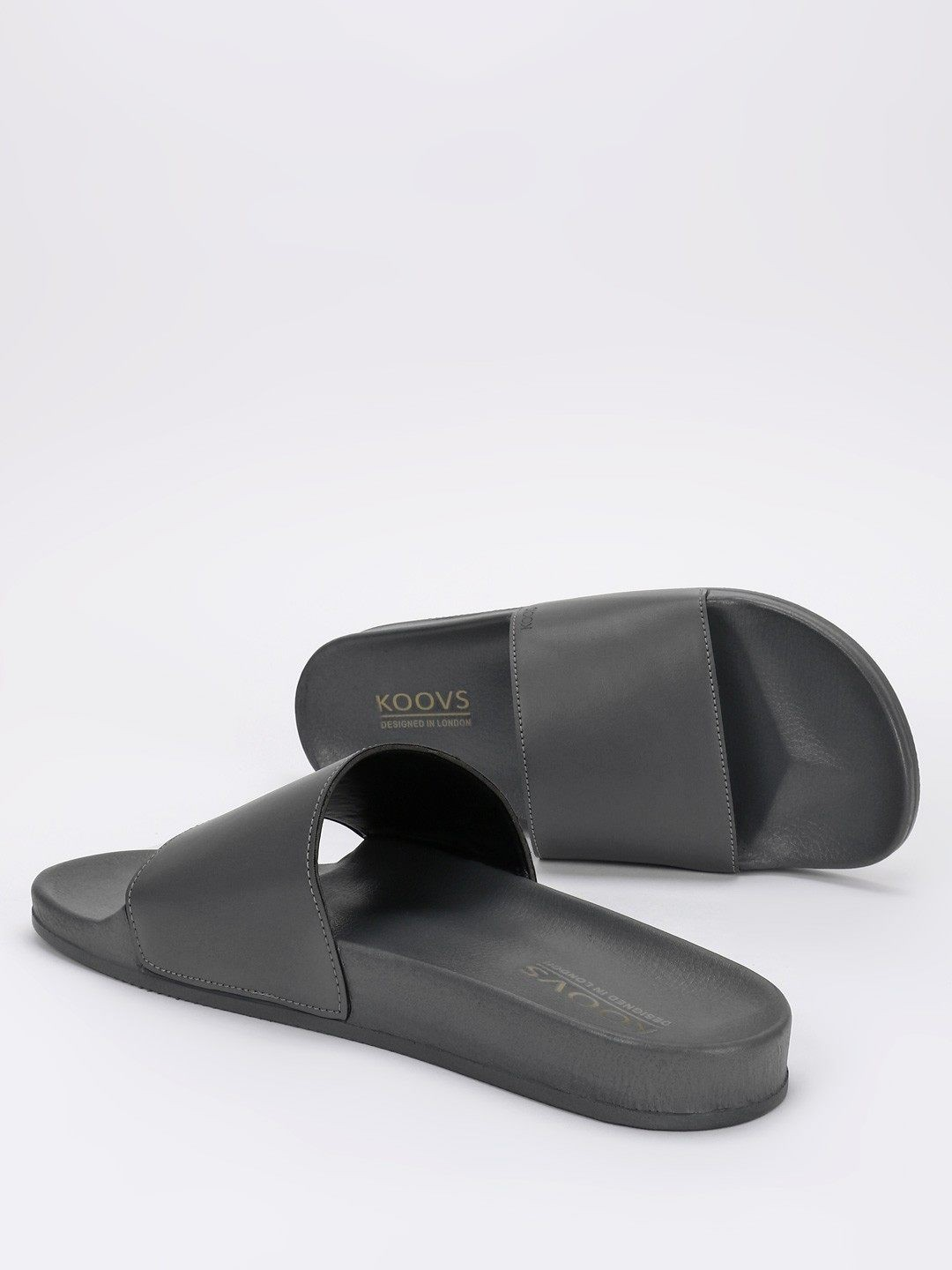 KOOVS Grey Basic Pool Slides 1