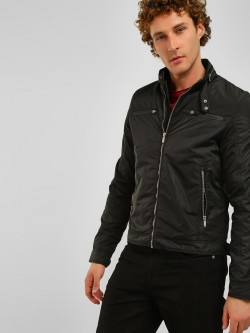Lee Cooper Zipper Detail Bomber Jacket