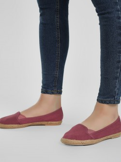 KOOVS Jute Braided Canvas Ballerinas