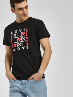 KOOVS Love Struck Graphic Print T-Shirt