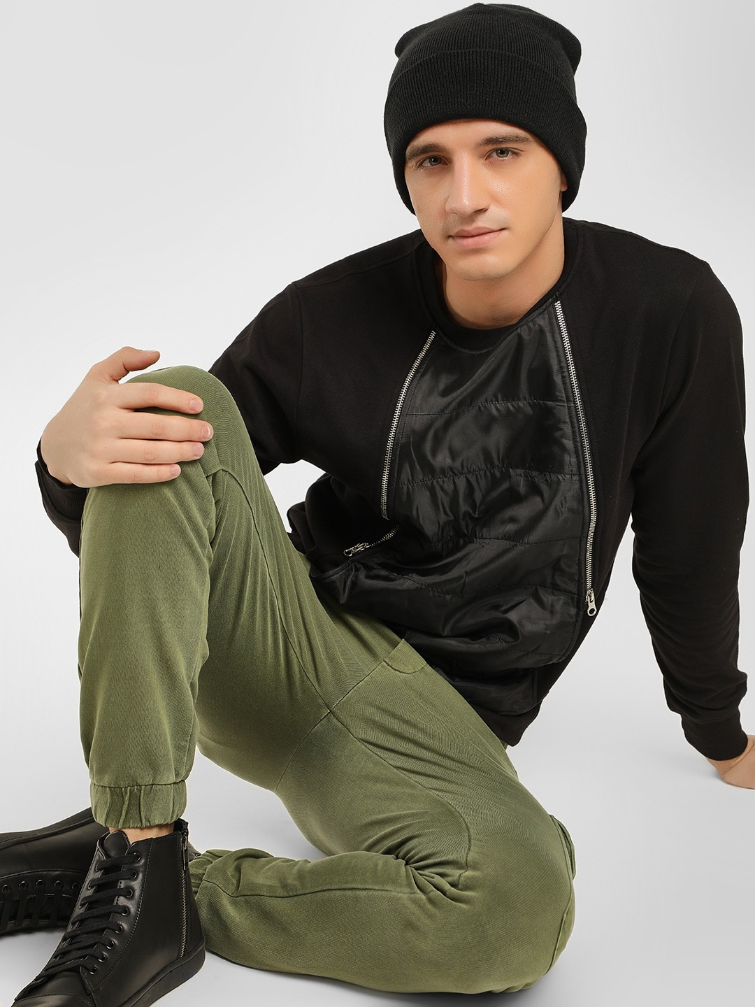 Tiktauli Black Essex Zipper Detail Sweatshirt 1