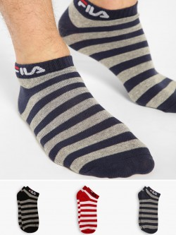 Fila Low Ankle Stripe Socks (Pack Of 3)