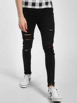 Kultprit Heavy Distressed Skinny Fit Jeans