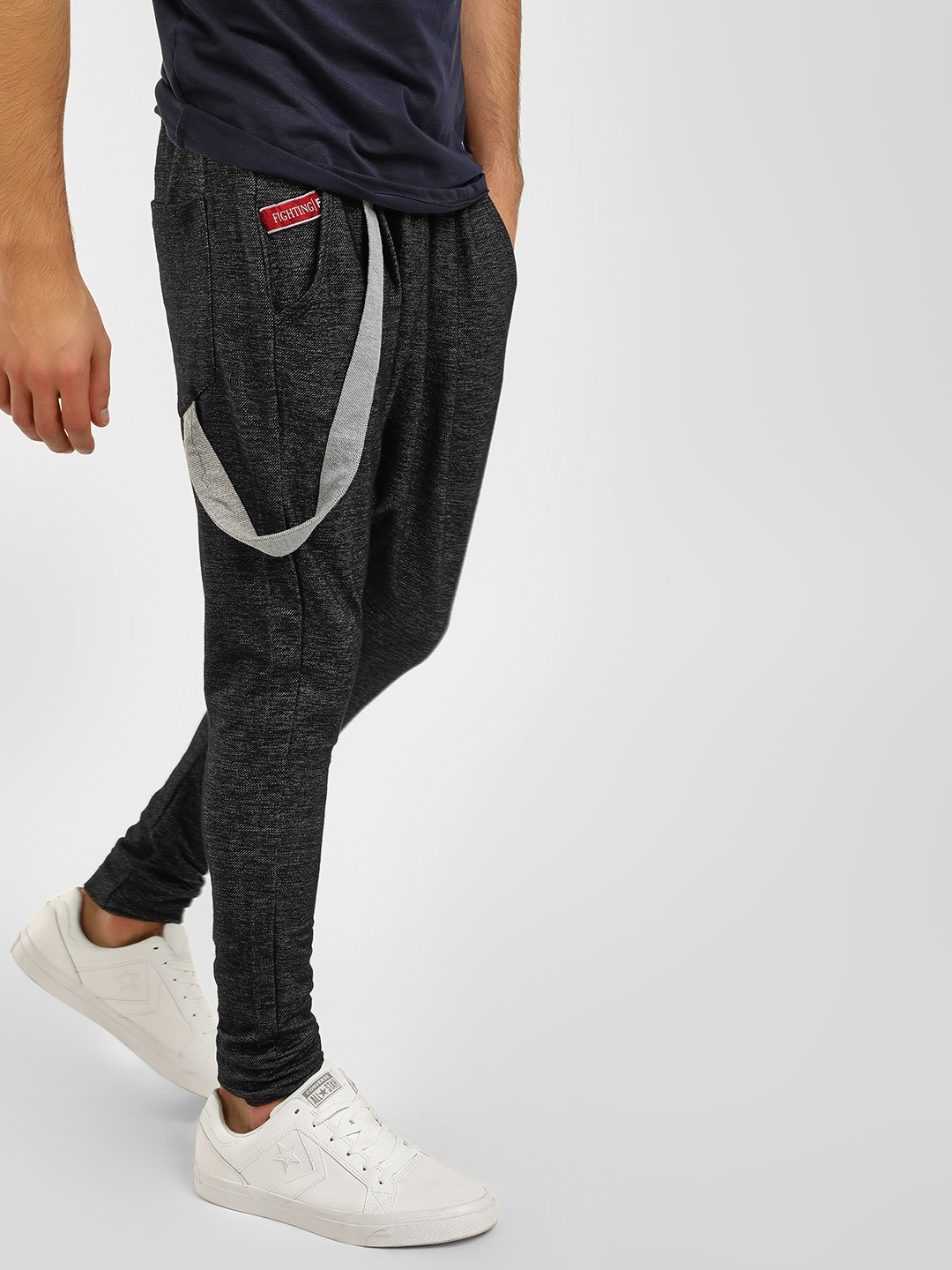 Fighting Fame Charcoal Drop Crotch Joggers With Suspender 1