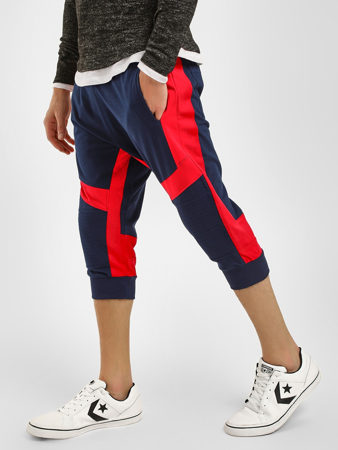 Fighting Fame Multi Colour Block Cropped Joggers 1