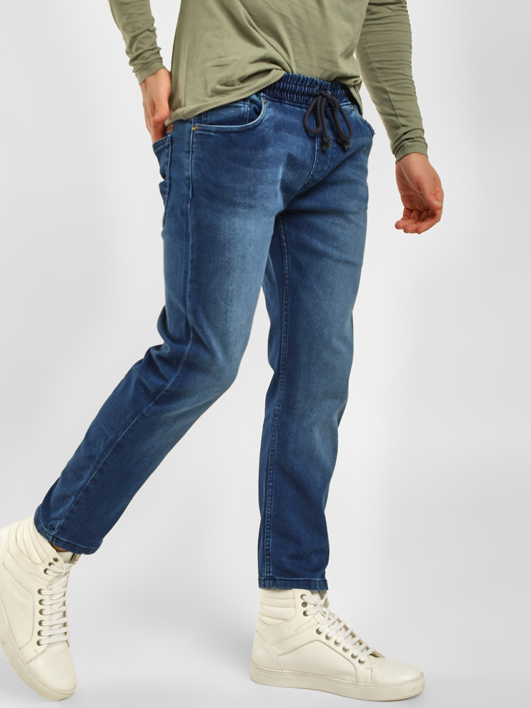 Blue Saint Blue Cropped Length Tinted Joggers 1