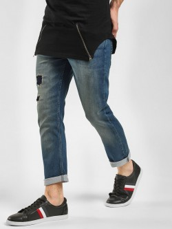 Blue Saint Ankle Length Ripped Joggers