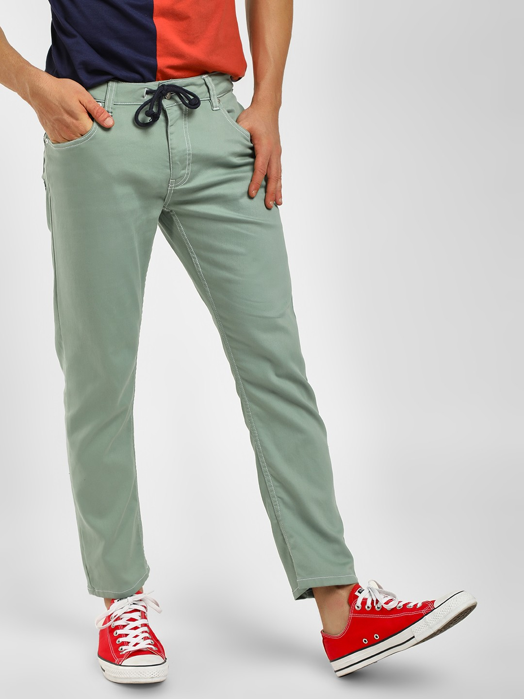 Blue Saint Multi Washed Slim Fit Trousers 1