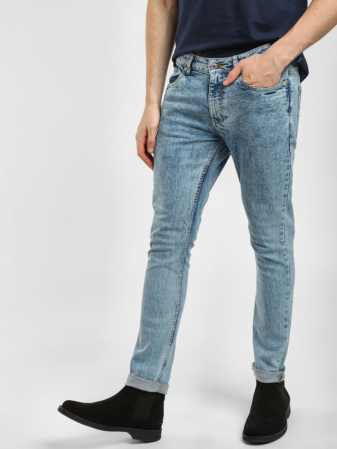 Blue Saint Blue Stone Washed Skinny Jeans 1