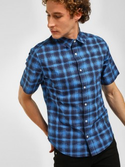 Blue Saint Multi-Check Casual Shirt