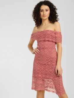 KOOVS Lace Bardot Dress
