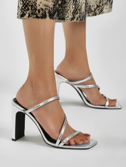 New Look Snake Print Block Heel Sandals