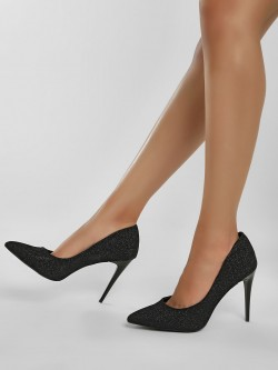 New Look Glitter Pointed Court Pumps