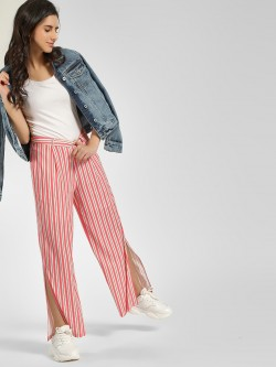Cover Story Striped Split Side Palazzo Pants