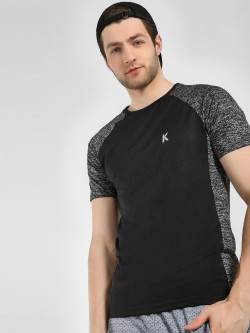 K ACTIVE KOOVS Printed Panel Raglan Sleeve T-Shirt