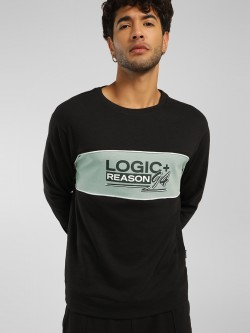 KOOVS Slogan Placement Print Sweatshirt