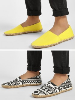 KOOVS Canvas Espadrilles (Pack Of 2)