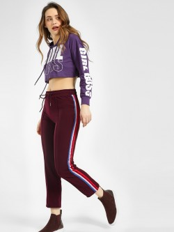 KOOVS Side Tape Cropped Joggers