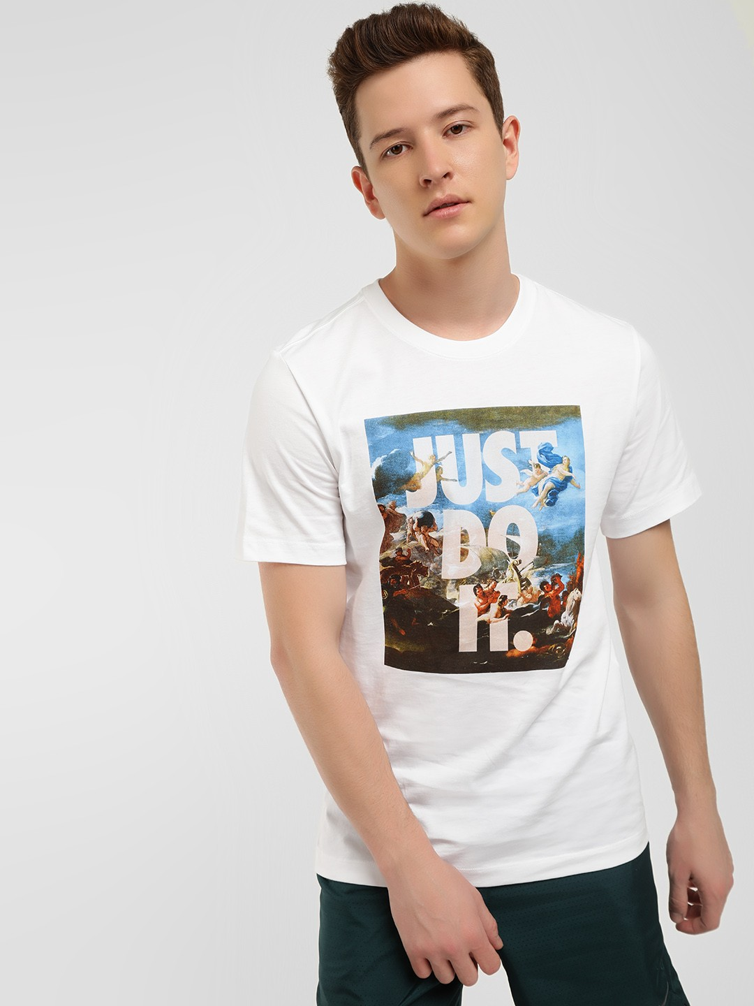 Nike White Sportswear Slogan Graphic Print T-Shirt 1