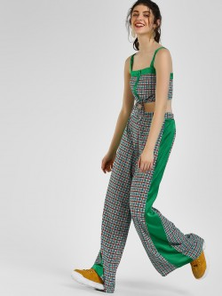 Glamorous High Waist Check Trousers