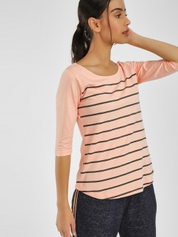 Cult Fiction Horizontal Stripe Long Sleeve T-Shirt
