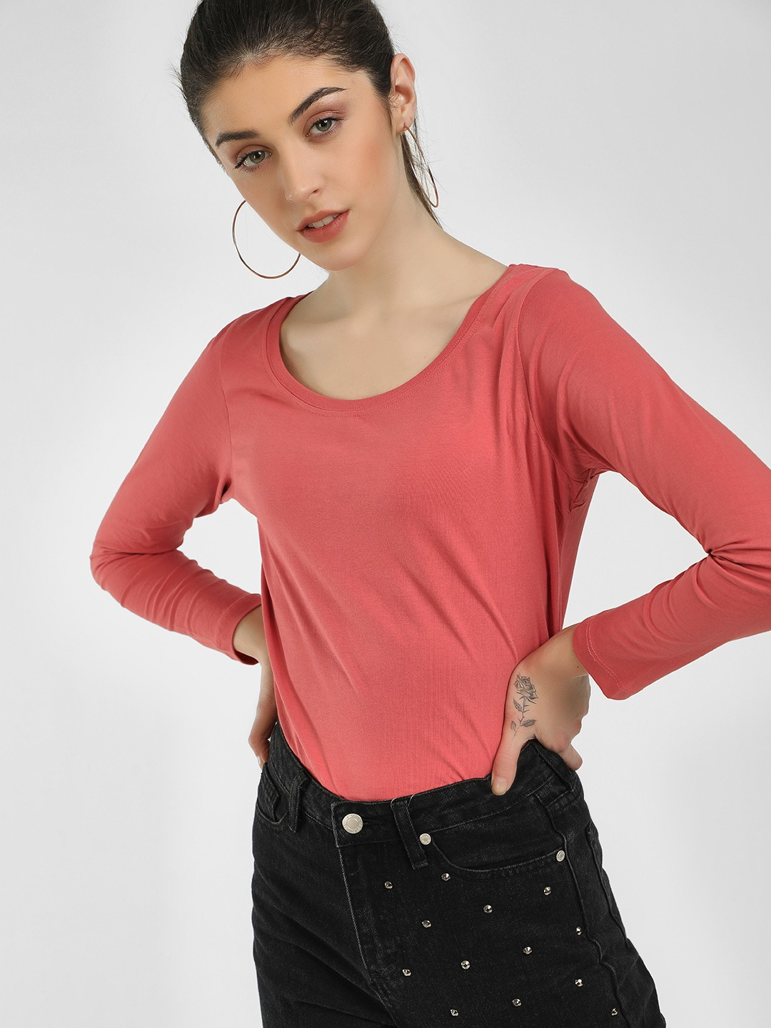 Cult Fiction Coral Basic Long Sleeves T-Shirt 1