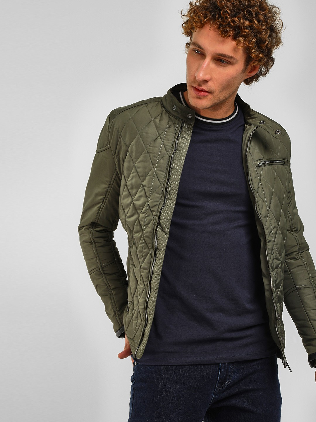Fort Collins Green Lightweight Quilted Jacket 1