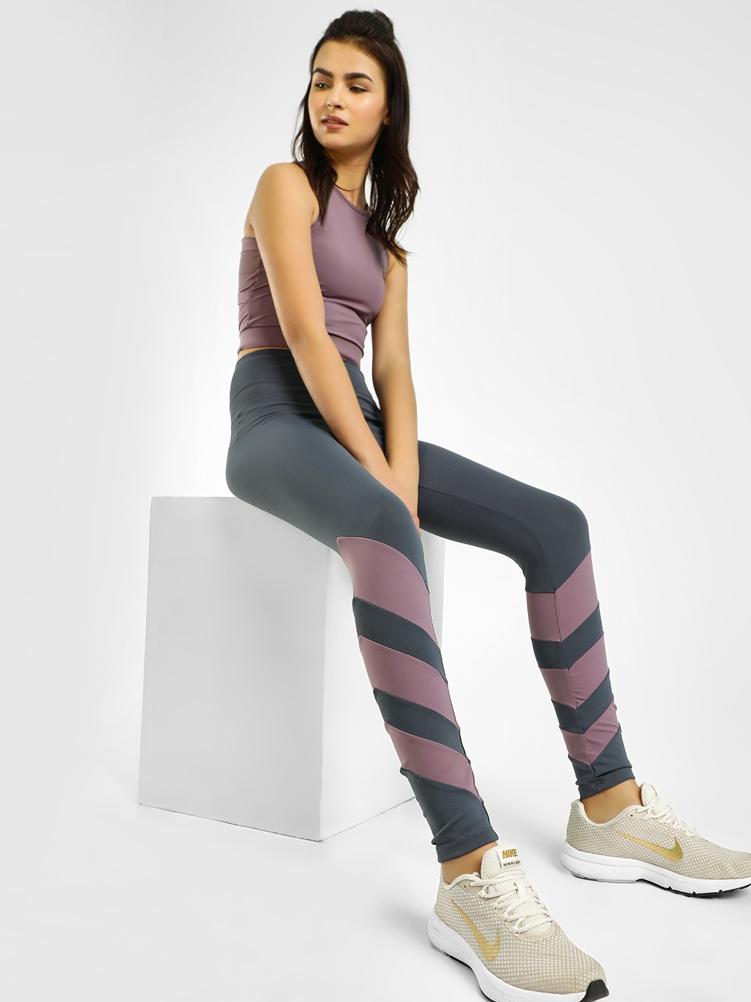 K ACTIVE Multi KOOVS Colour Block Leggings 1