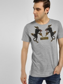 Adamo London Tiger Embroidered Patch T-Shirt