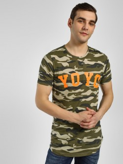 Adamo London Yo Yo Camo Print T-Shirt