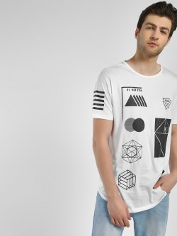 Adamo London Arbitrary Print Oversized T-Shirt