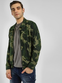 Garcon Camo Print Collared Jacket