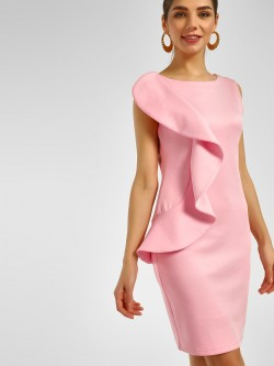 Cover Story Frill Detail Bodycon Dress